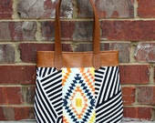 Navajo Southwestern Bag with Faux Leather Straps