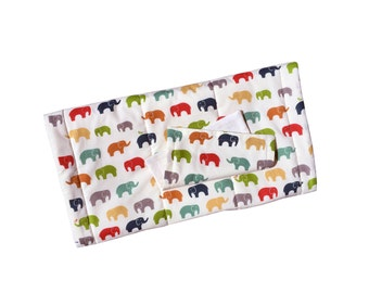 CLEARANCE Organic Quilted Changing Mat Set | Elephants