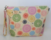 Spirograph Print Knitting Project Bag