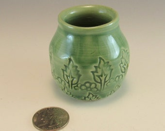 Little Pottery Fairy Vase/ Small Pottery Flower Vase/ Toothpick Holder