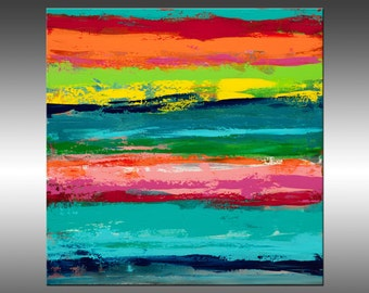 Reclaimed 3 - Large Original Abstract Painting, Landscape, Canvas Art, Modern, Contemporary