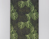 A6 Mini Notebook - Monstera - Tropical Cheese Plant Pattern