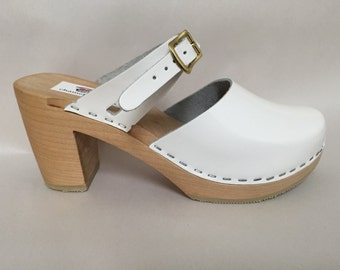 NEW  Highest Heeled Mary Jane in white patent