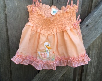 Smocked Ducky Top 12/18 Months