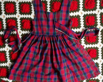 1950s Plaid Dress Girls 5
