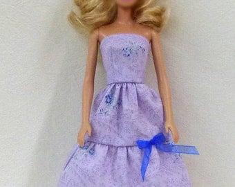 "Purple 11.5"" Fashion Doll Dress Handmade ready to mail"