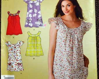 Sewing Pattern Simplicity 2962 Misses' Pullover Top Bust 30 to 40 inch Complete UNCUT