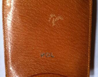 Bandwagon Genuine Pigskin leather sliding case cigs herbs initials POL phone case