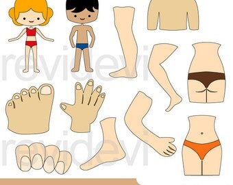The body clipart - body parts clipart - anatomy clip art - digital instant download