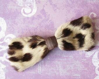 A Bit of Cha Cha Cha...Fun Vintage Leopard Bow Tie
