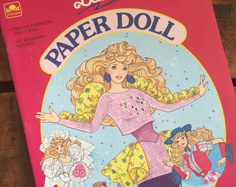 Vintage Paper Doll Book - Party Pizazz Barbie - Unused / Uncut