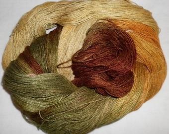 Hand Dyed 100% Bamboo Yarn - HONEYSUCKLE  - 630 yds
