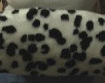 Dalmatian faux fur muffs,Fur winter wedding hand warmers, luxury costume muffs