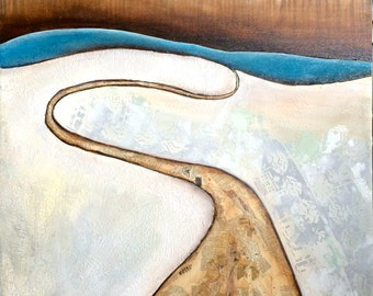 original acrylic mixed media painting- Unconventional Path