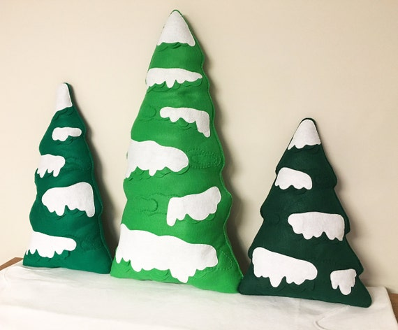 Tree Scenery, Photo Prop, Christmas Decor, Winter Decoration, Snowy Forest - Made to Order, Large Trees, Christmas Tree