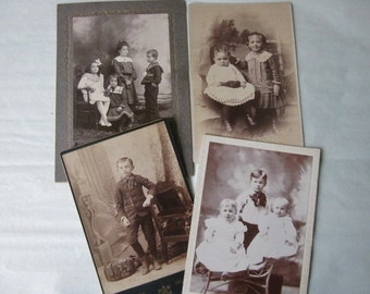 Antique Photographs Cabinet Cards boys and girls
