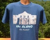 vintage 80s tee shirt ALAMO san antonio texas t-shirt Medium Large history travel