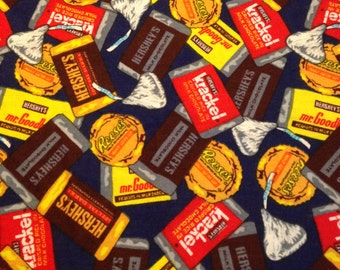 Hershey's Candy Print Cotton - 2/3 Yard  -  Fabric Yardage / Candy Yardage / Halloween Fabric / Hersheys Fabric