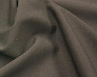 Cotton Lycra Poplin in Black - 1 1/4 yard - Cotton Fabric / New Fabric / Lycra Poplin / Lycra Yardage / Apparel Fabric - LAST PIECE!