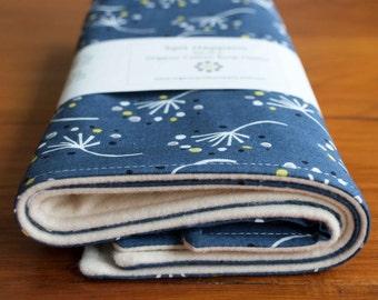 Dandelion Burping Pads; Modern Burp Cloths; Organic Cotton Burping Cloth Set; Trendy Baby Gift under 20; Handmade Baby Shower Gift for Girls