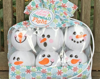 Snowman Snowballs Set 2 Machine Embroidery & Sewing Files Instant Download