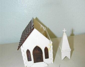Vintage Plasticville Church Plastic 11927