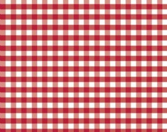 Riley Blake Fabric SALE, Red White Gingham Checkered - FAT QUARTER 18x22""