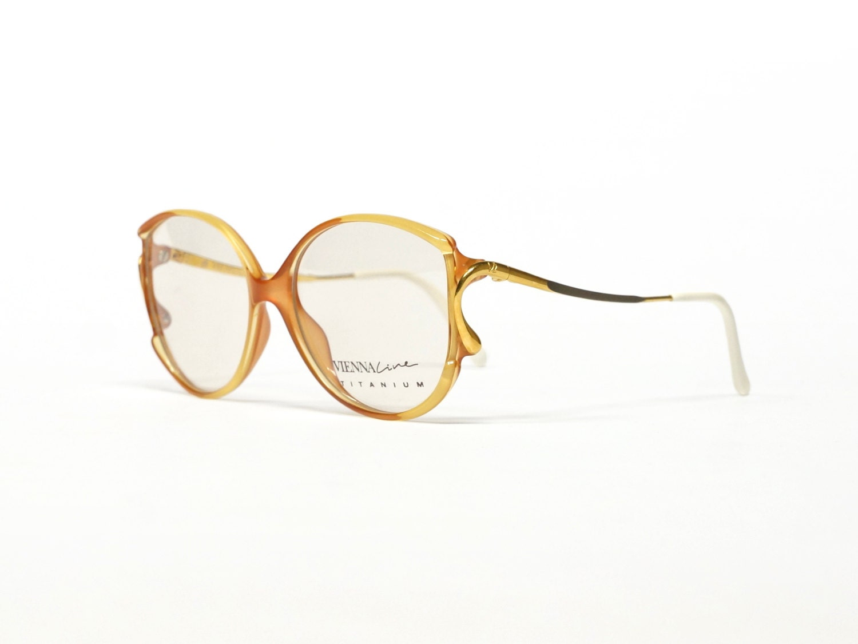 Eyeglass Frame Lines : Vienna Line Vintage Eyeglass Frame 80s Eyewear Titanium