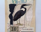 Original Collage - black bird 10
