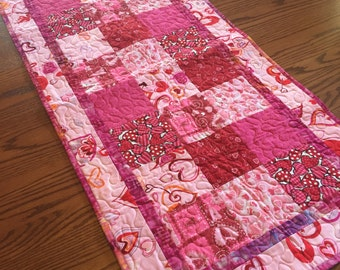 SALE Valentines charm Table Runner