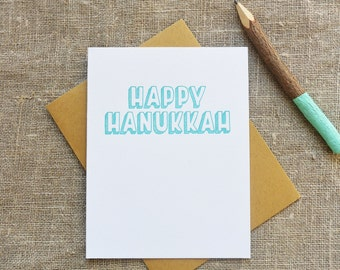 Warm Thoughts Letterpress Hanukkah Card - Happy Hanukkah - WMH 382