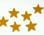 6 Mustard Star Magnets