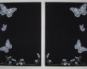 2 Butterfly Bulletin Boards with 12 push pins