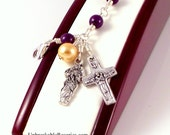 Virgin Mary Untier of Knots Rosary Bracelet In Purple Magnesite by Unbreakable Rosaries