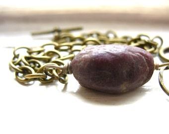 Tourmaline Bracelet, Pink Tourmaline Chain Bracelet, Handmade Artisan Gemstone Jewelry, Pink Tourmaline, Gemstone Bracelet, Stone Bracelet