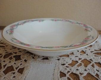 Small Cereal Salad Dessert Bowl HALL WILDFIRE White Gold Rim EUC U.S.A.
