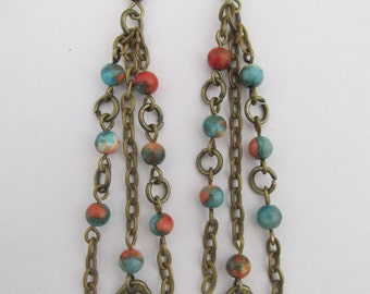 Chain Dangle Earrings - Boho Style