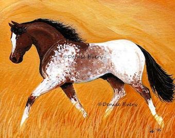 Appaloosa Horse Art Print Blanket Appalosa Sports Dressage Horse Art Appaloosa horse art print horse lover equine art by Denise Every
