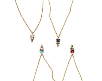 Uva Ursi Necklace // moonstone, lapis, turquoise, or red jasper