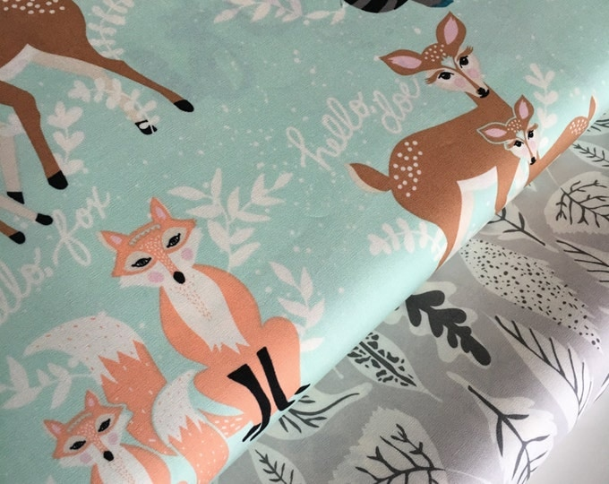 Hello Bear fabric bundle by Bonnie Christine, Deer Fabric, Art Gallery Fabric- Fabric Bundle of 2, Choose The Cuts, Free Shipping Available