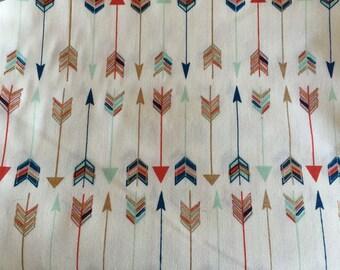 Custom Metallic Gold Navy & Mint Arrows Crib Sheet Nursery Bedding READY To SHIP