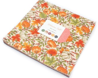 "Welcome Fall Moda Layer Cake, 42 - 10"" precut fabric quilt squares by Deb Strain"