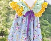 ON SALE Girls Ruffle Dress Pattern -- Sweet Baby Doll -- newborns through 12 girls Instant