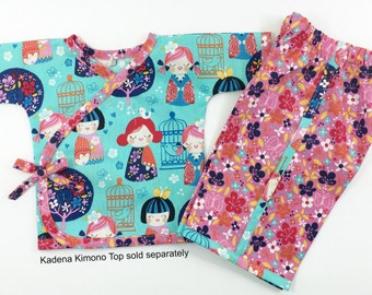 Kadena Kimono Pants for Babies newborn through 24m boys/girls PDF Instant by Whimsy Couture