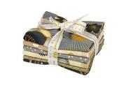 Robert Kaufman SATSUKI VINTAGE Metallic Fat Quarter Bundle 6 Precut Cotton Fabric Quilting FQs FQ-1046-6