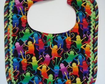 Monkey Business Toddler or Child Bib