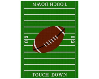 INSTANT Download Chella Crochet Football Field Blanket TOUCH DOWN Afghan Crochet Pattern Graph .pdf