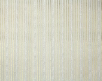 1940s Vintage Wallpaper by the Yard - Thin Metallic Gold and White Stripe