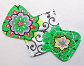 "9.25"" (23.5 cm) Light / Liner - Reusable Cloth Menstrual Pad (9LC) - Bright Floral"