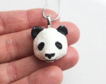 Christmas in July - Panda Necklace - Panda Pendant - Panda jewelry - Panda Bear - Panda - Animal Jewelry - Animal Necklace - Bear - Bear Nec